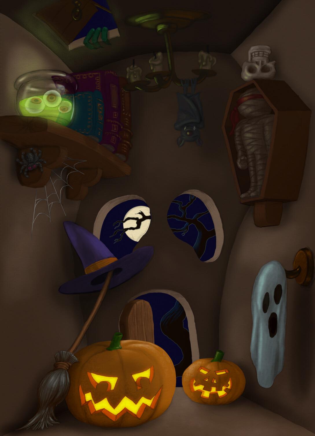 Halloween Dojo Background