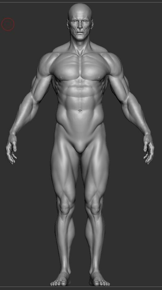 Base sculpt with no micro textures