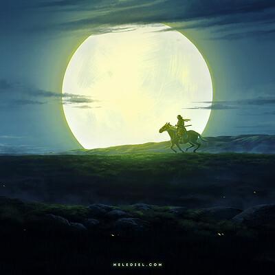 Nele diel rider in the night