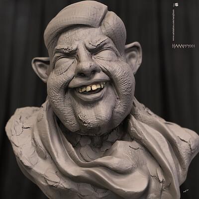 Surajit sen haaappy001 digital sculpture surajitsen dec2019 sss