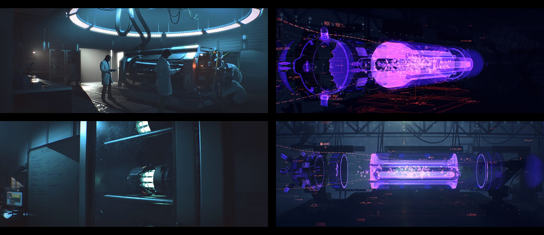 Screenshots from cinematics