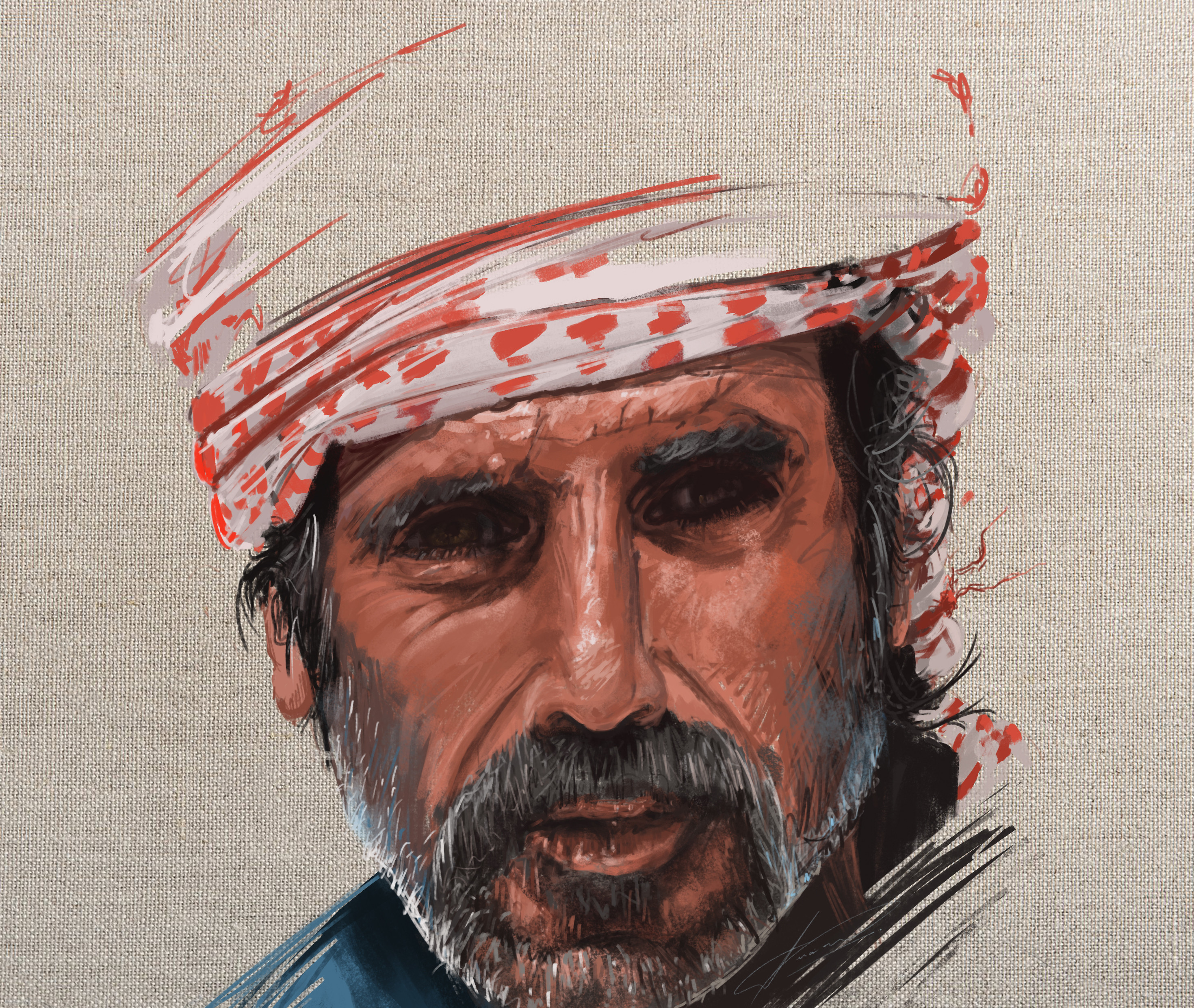 Artstation Bedouin Eyes Timelapse Luciano Neves