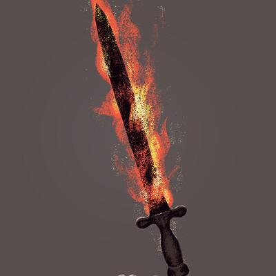 Samantha darcy flaming sword