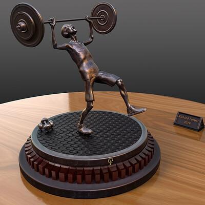 Richard fortier desequilibre bronze