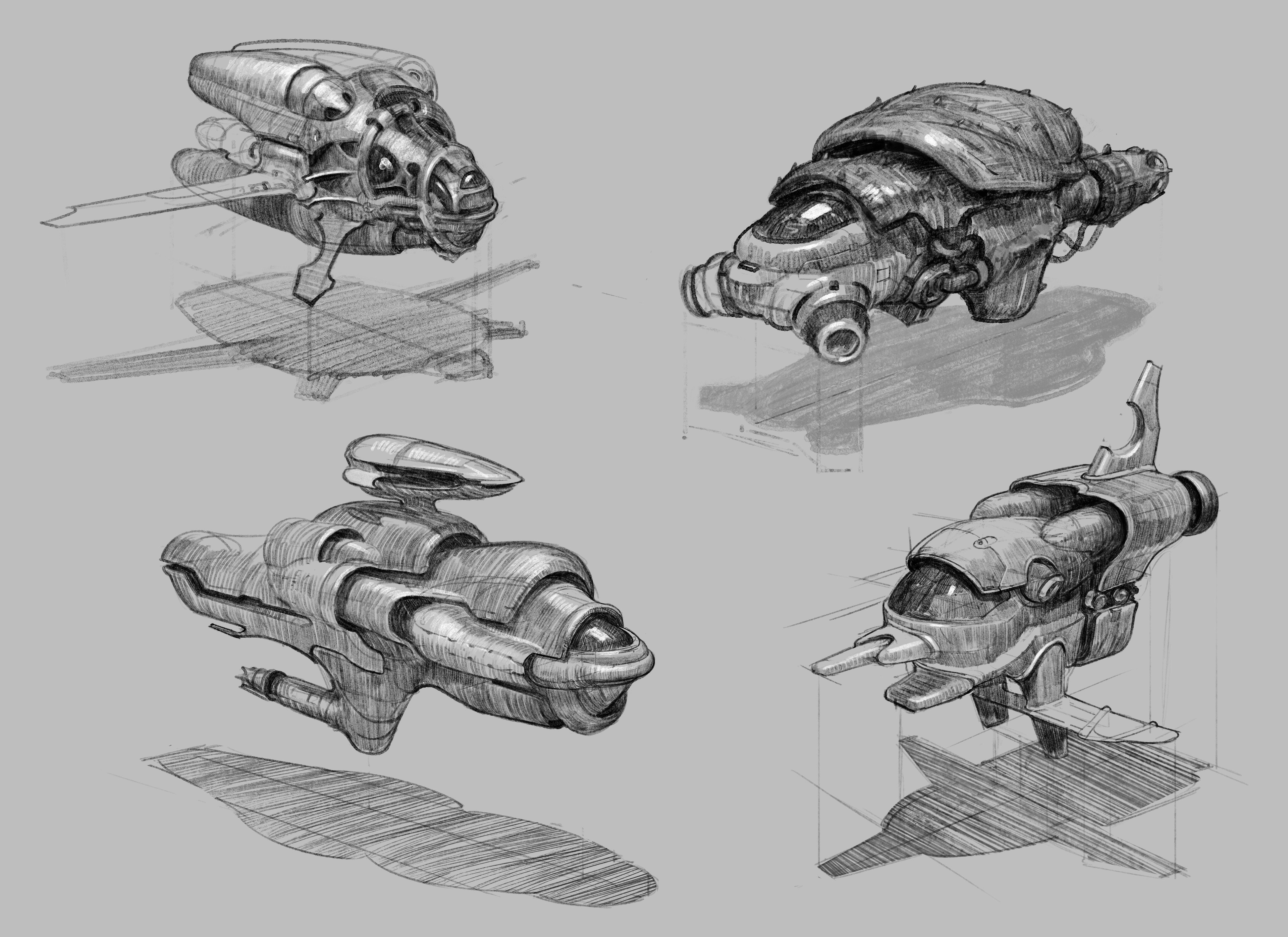I imagine a lot of the ships would be inspired by beetles. They hooks on the legs of insects are already reminiscent of gothic crockets.