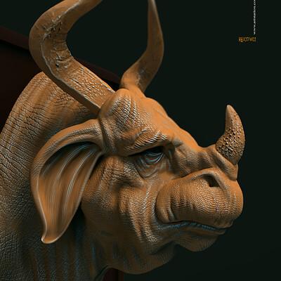 Surajit sen rhicow02 digital sculpture surajitsen nov20190 copy