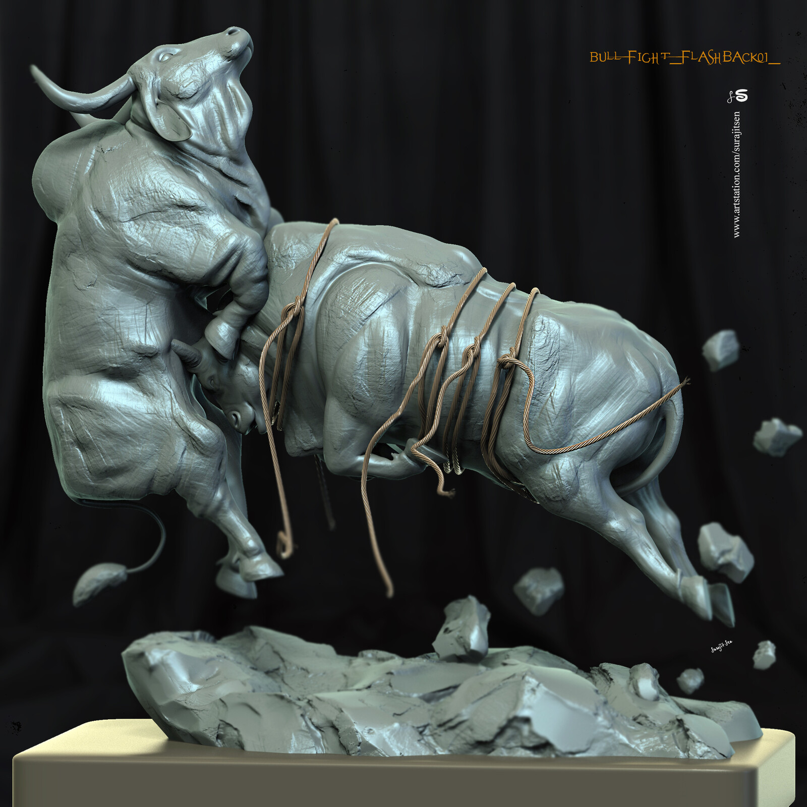One of my thoughts. Digital Sculpture. Fighting Bulls. #flashback2019🔥