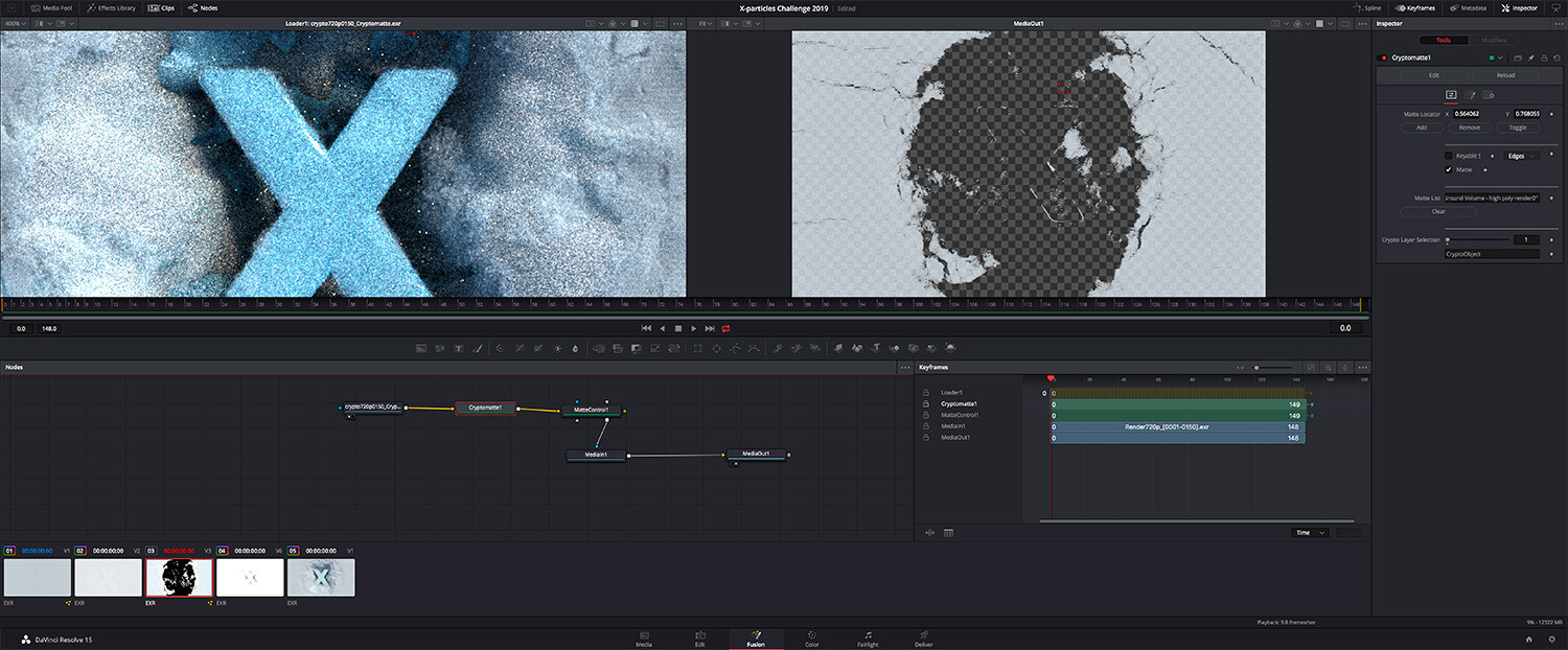 Compositing using cryptomattes from Cycles4D