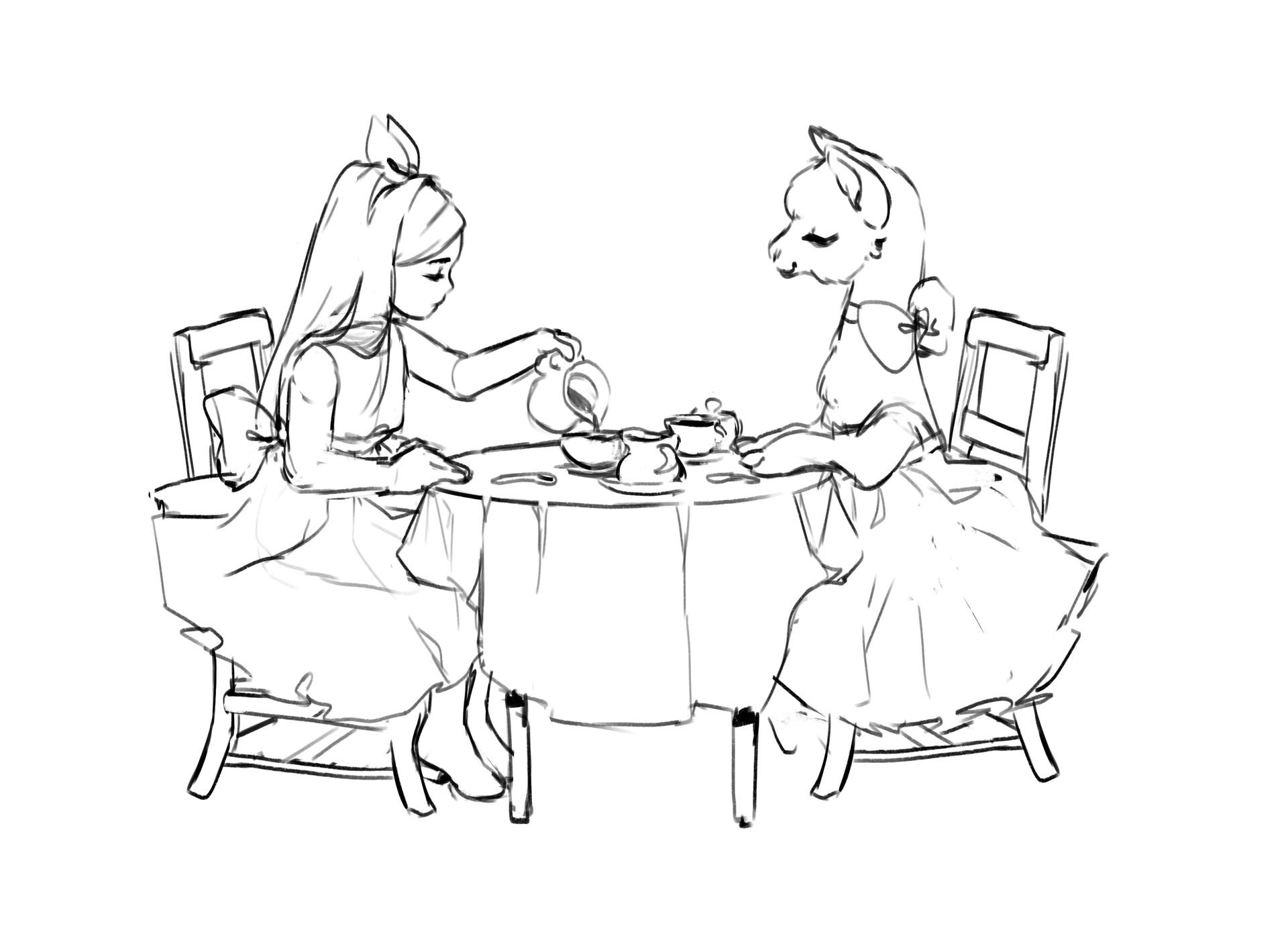 Dani kruse teaparty sketch