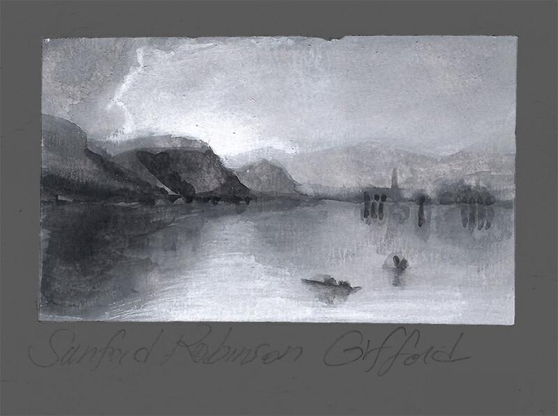 Tonal Study After Sanford Robinson Gifford, Isola Bella in Lago Maggiore; gouache