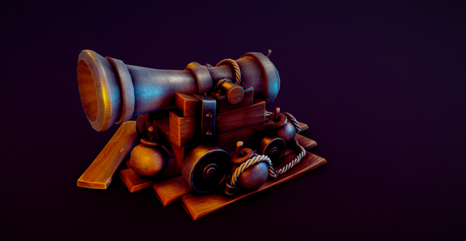 Medieval Cannon toon // the job is not done