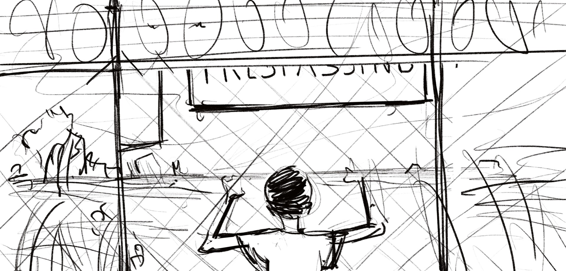 Fenced In  -  First Draft Line-work