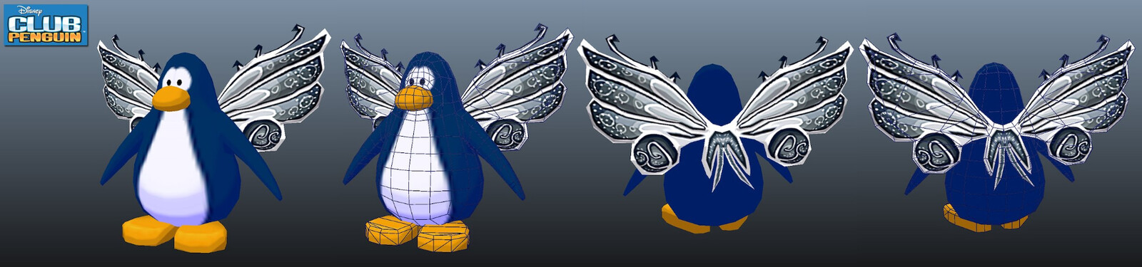 One of the accessories that I modeled and textured for Disney's Club Penguin. (Penguin model created by another artist)