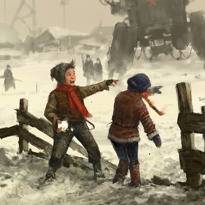 Jakub rozalski snowball fight ih small
