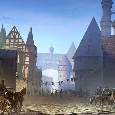 Godwin akpan medieval town 02