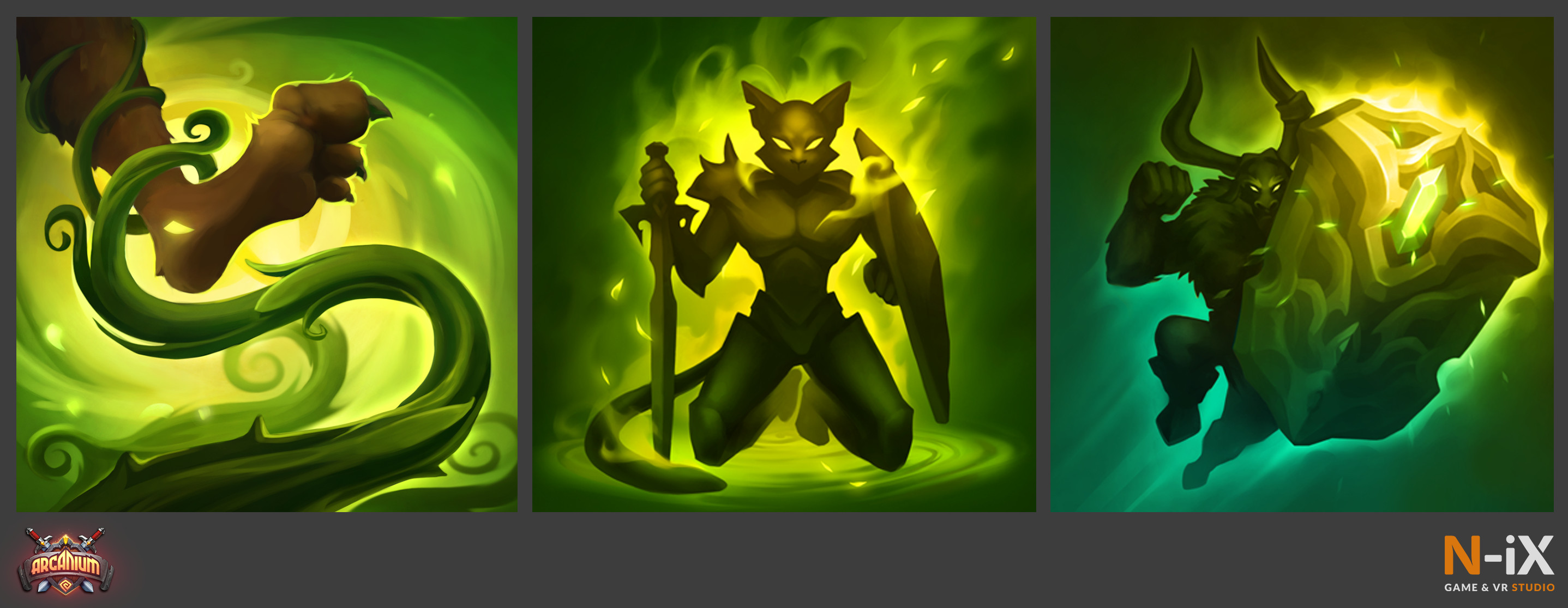 Arcanium Example of skill icons