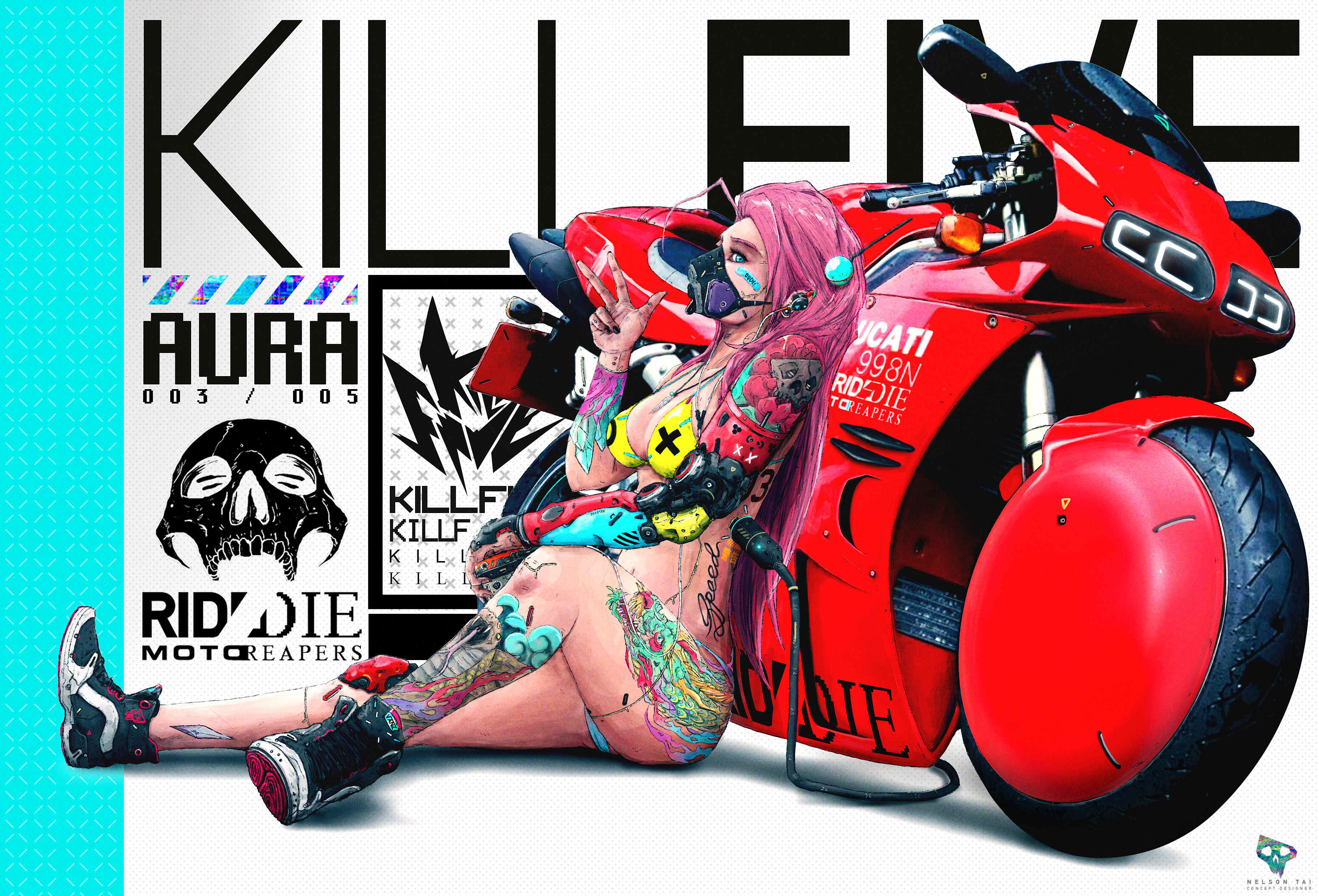 Other member of the KILLFIVE crew - AURA