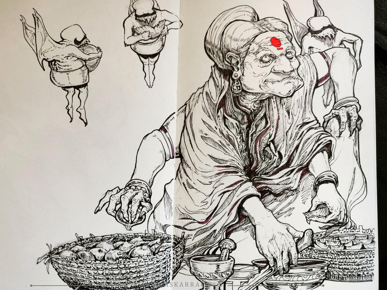 Amma the spice-seller