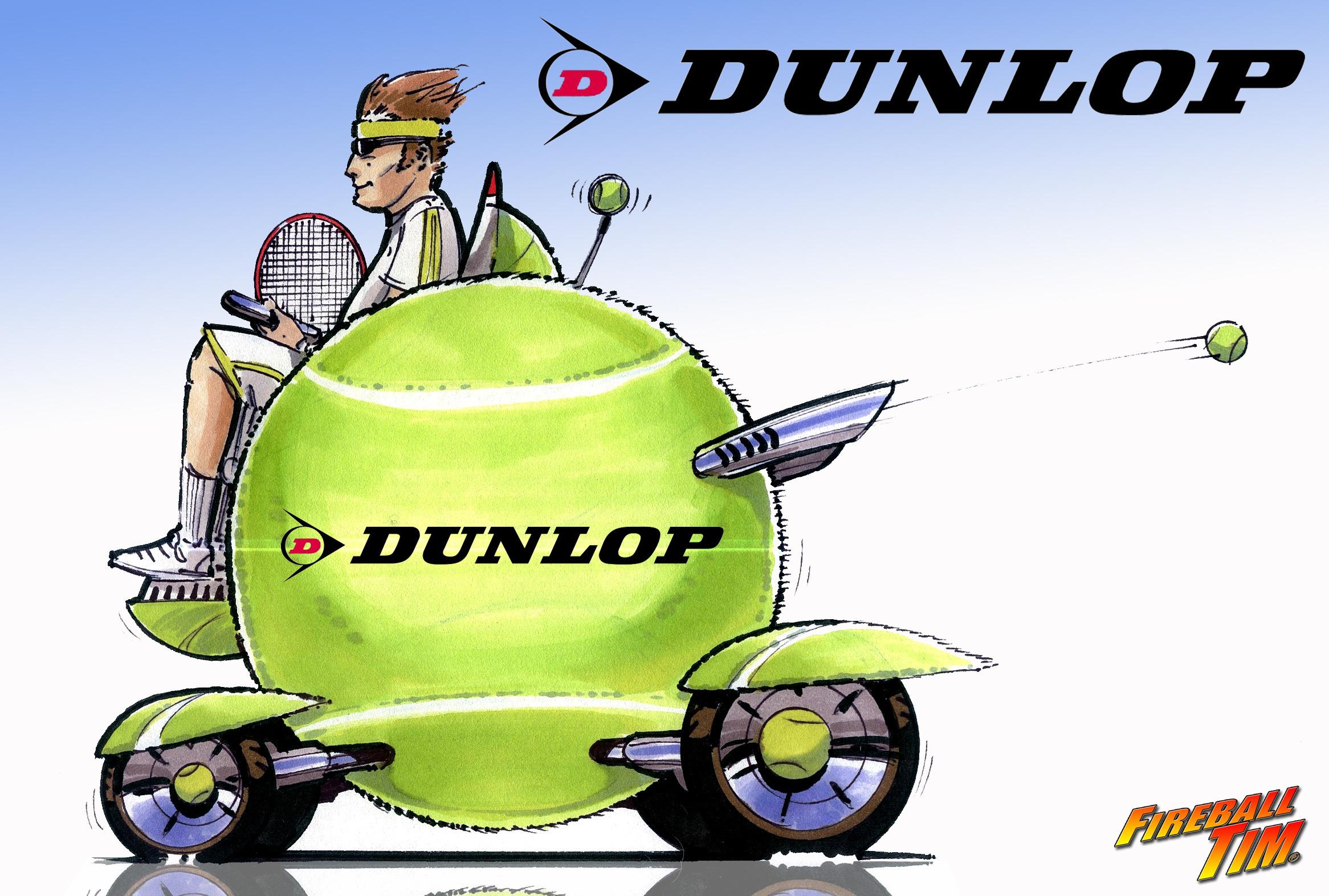 TENNIS BALL CAR - CLIENT DUNLOP