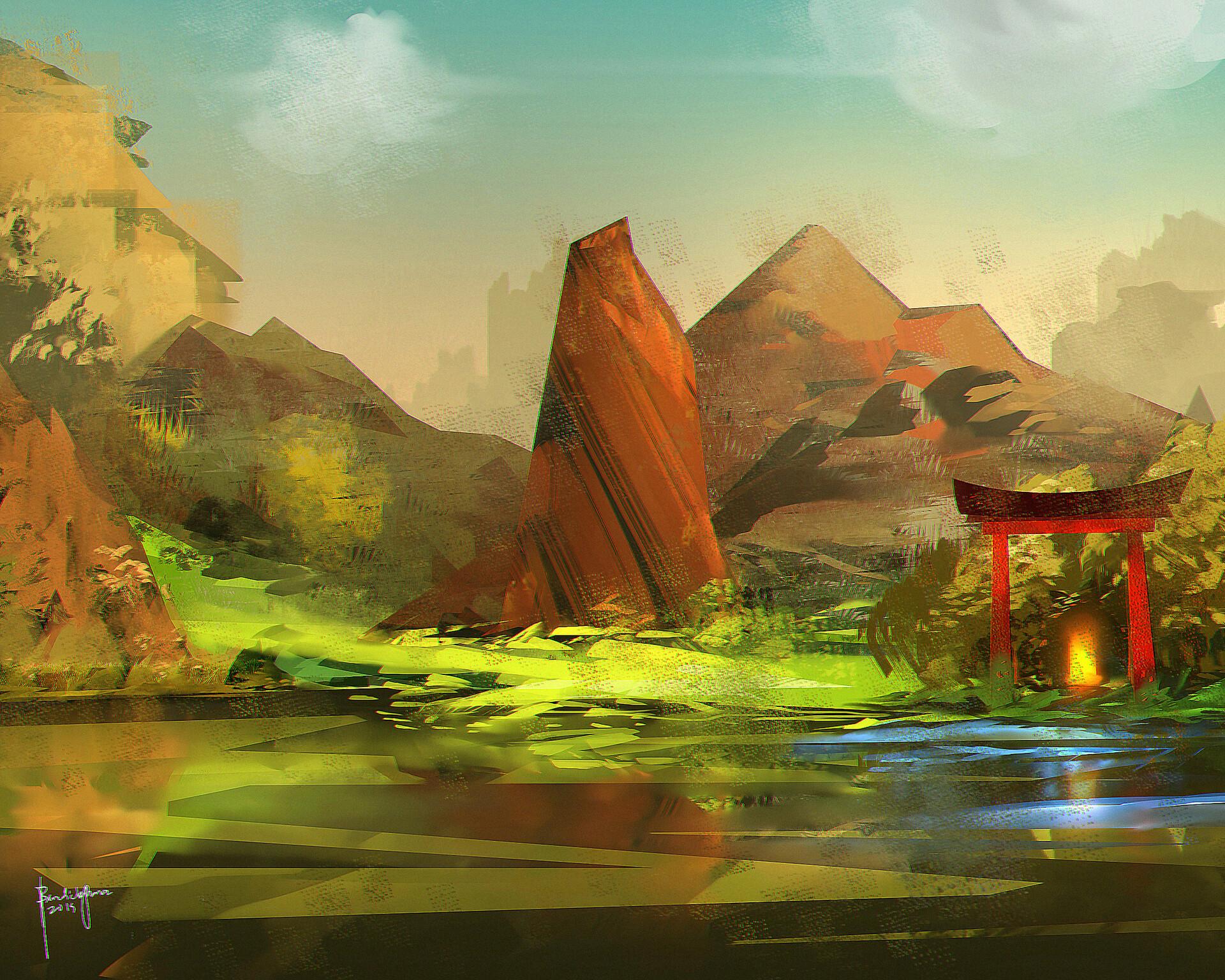 Ancient Lake Temple