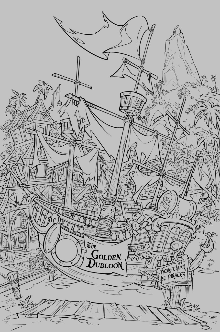 Line art for background