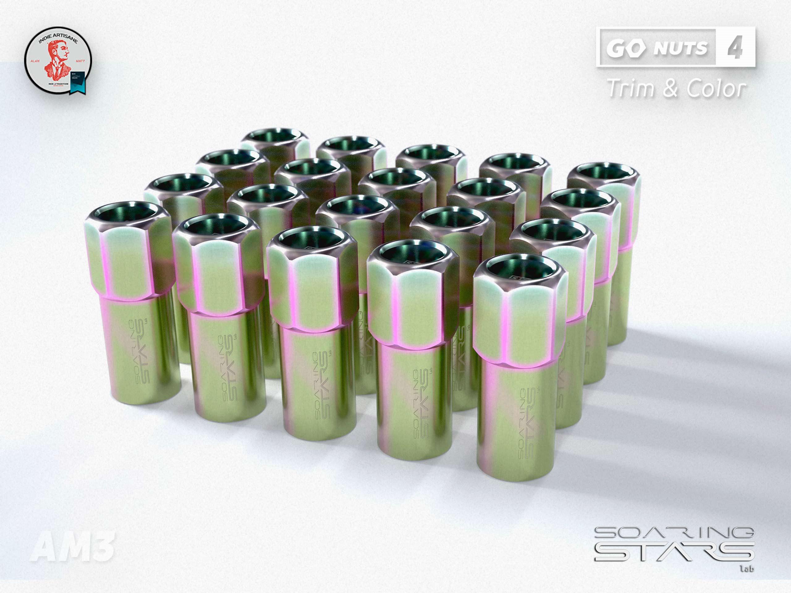 Soaring Stars lab, neon color nuts