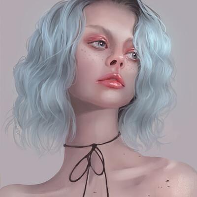 Anna r portrait blue