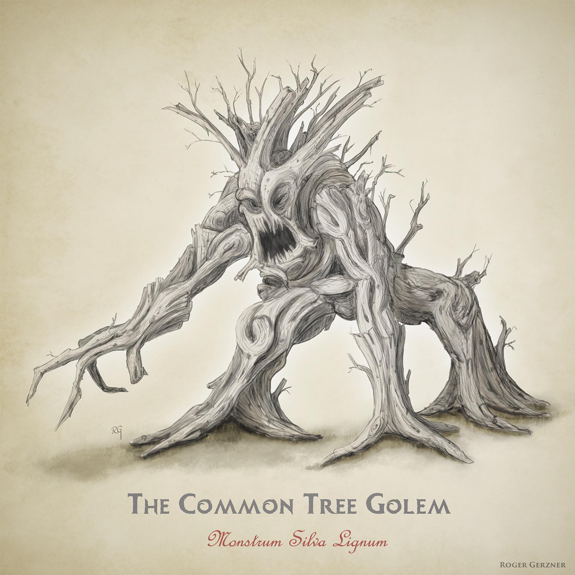 Roger gerzner gnorl tree monster pencile