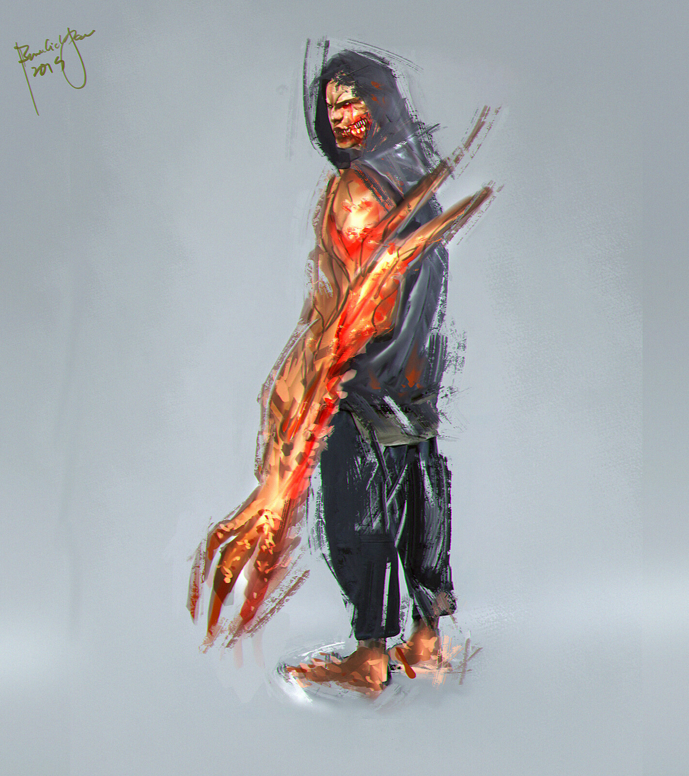 concept art. - ref used. aggressive mutant