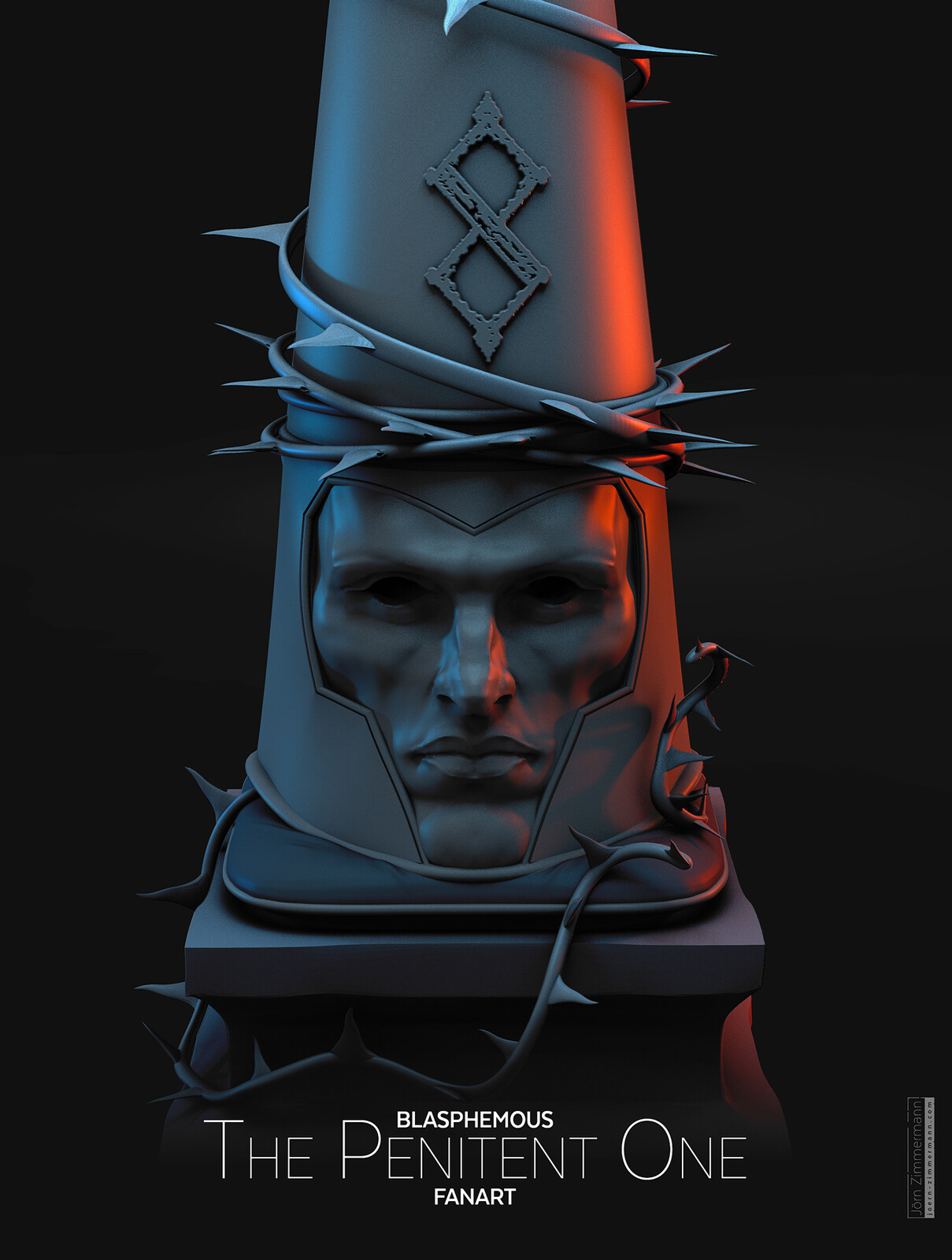 The Penitent One Helmet | Blasphemous Fanart Clay Render