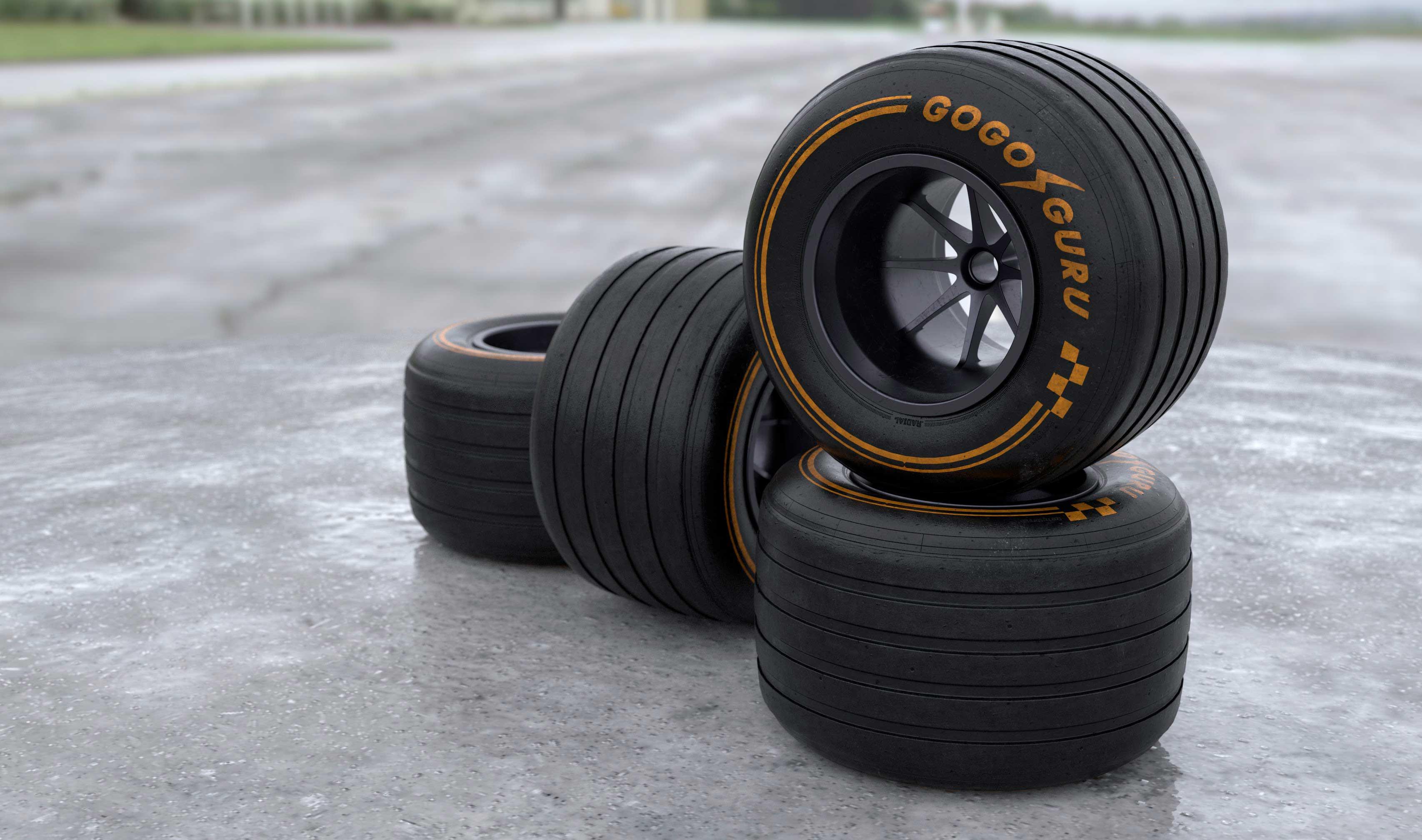 Wets: GOGO GURU 2019 F1 rear tiers made by Alan Mattano at SoaringStars lab