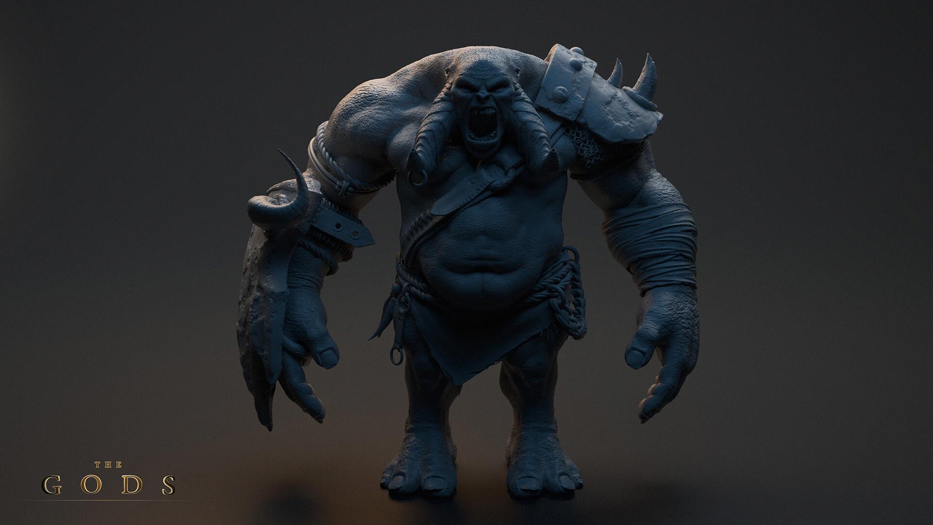 Artstation War Troll The Gods Oliver Otruba