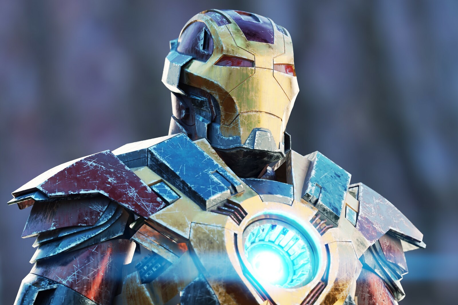 Damaged Iron Man suit