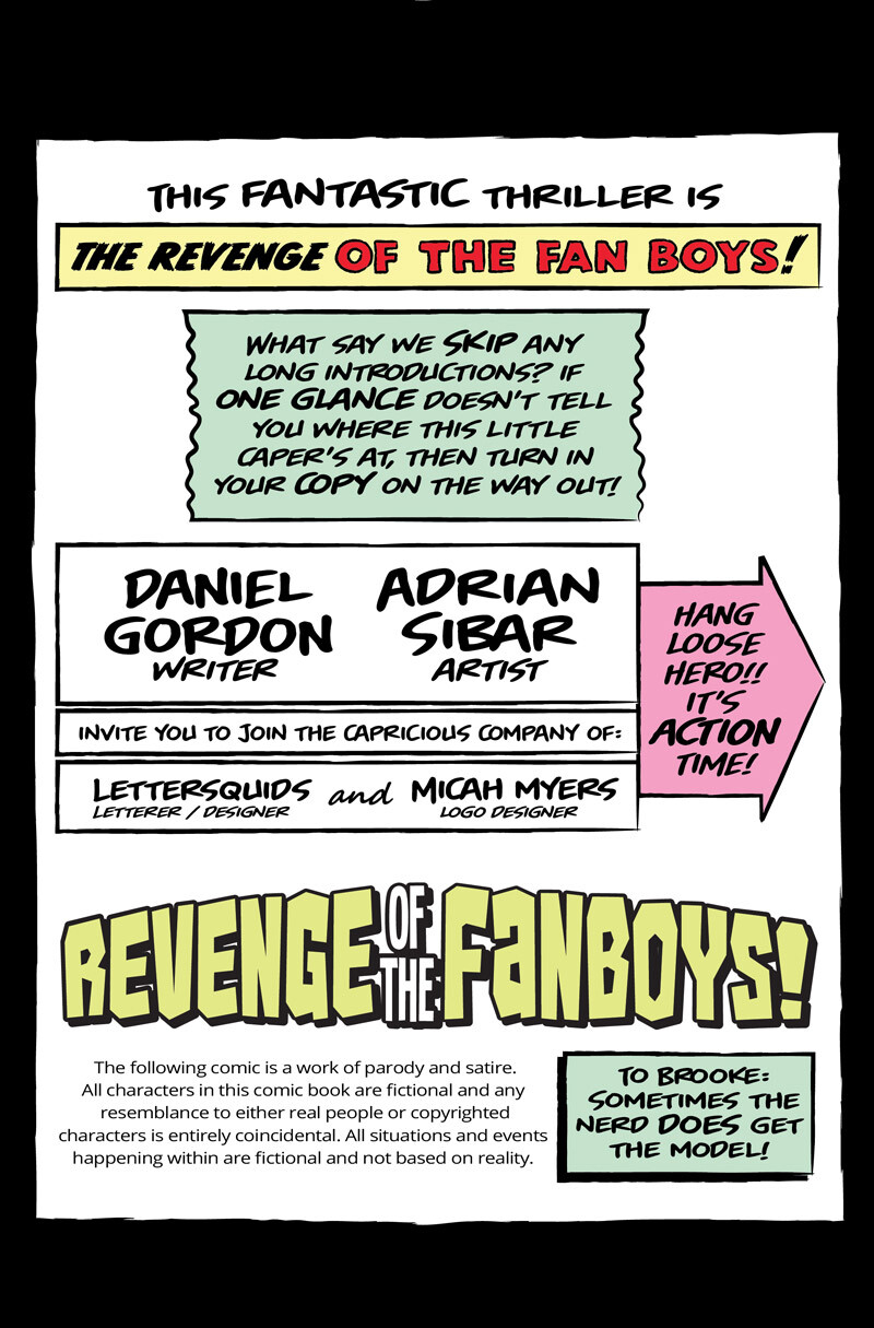 Revenge of the Fanboys #2 (Lettering and Interior Page Design)