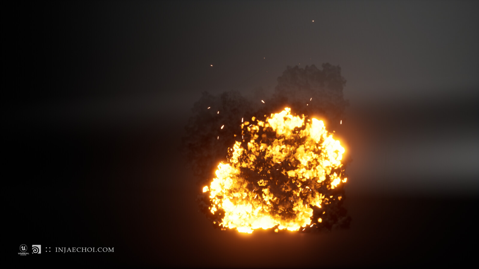 Real-time explosion in Unreal engine 01
