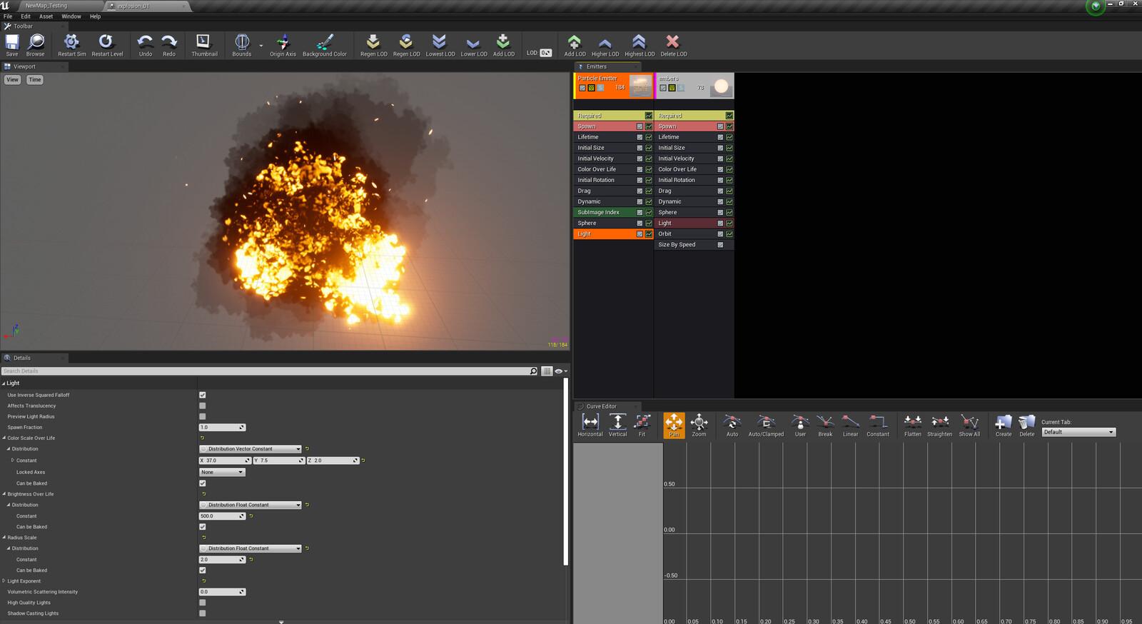 Unreal engine Screen Capture Particle work flow