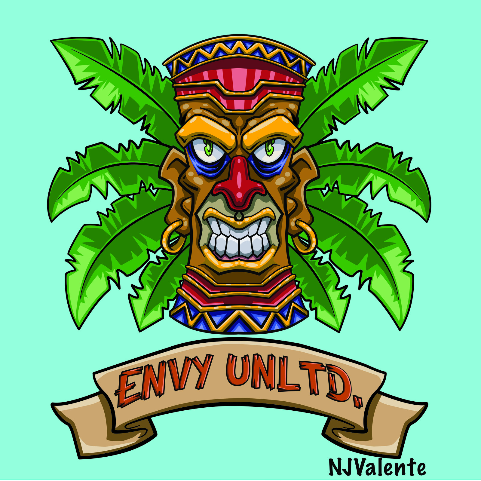 Tiki custom tshirt design eNVy Unltd.