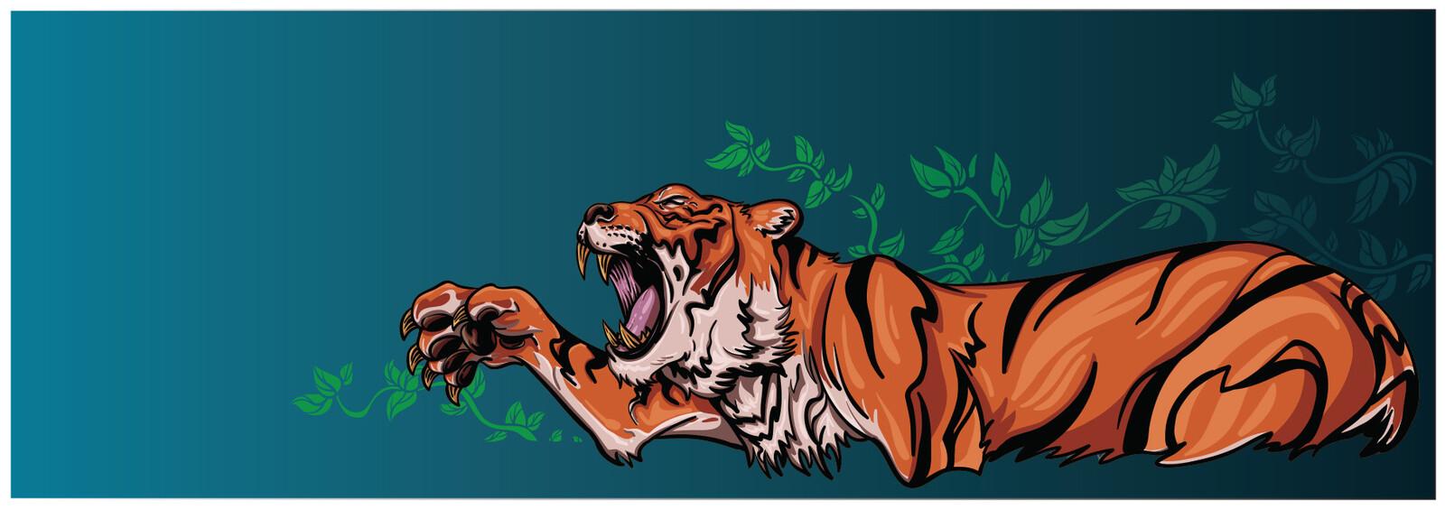 Tiger vector illustration.