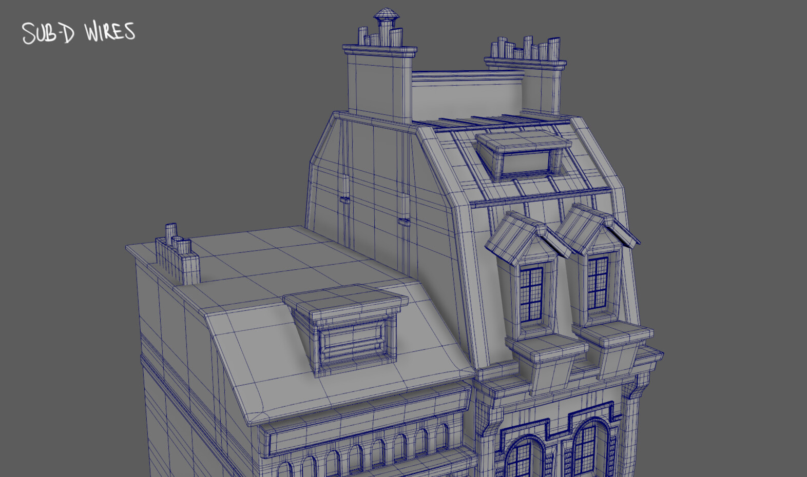 Building asset modeled in Maya 2019 based on concept art by Matias Hannecke > https://hannecke.tumblr.com/