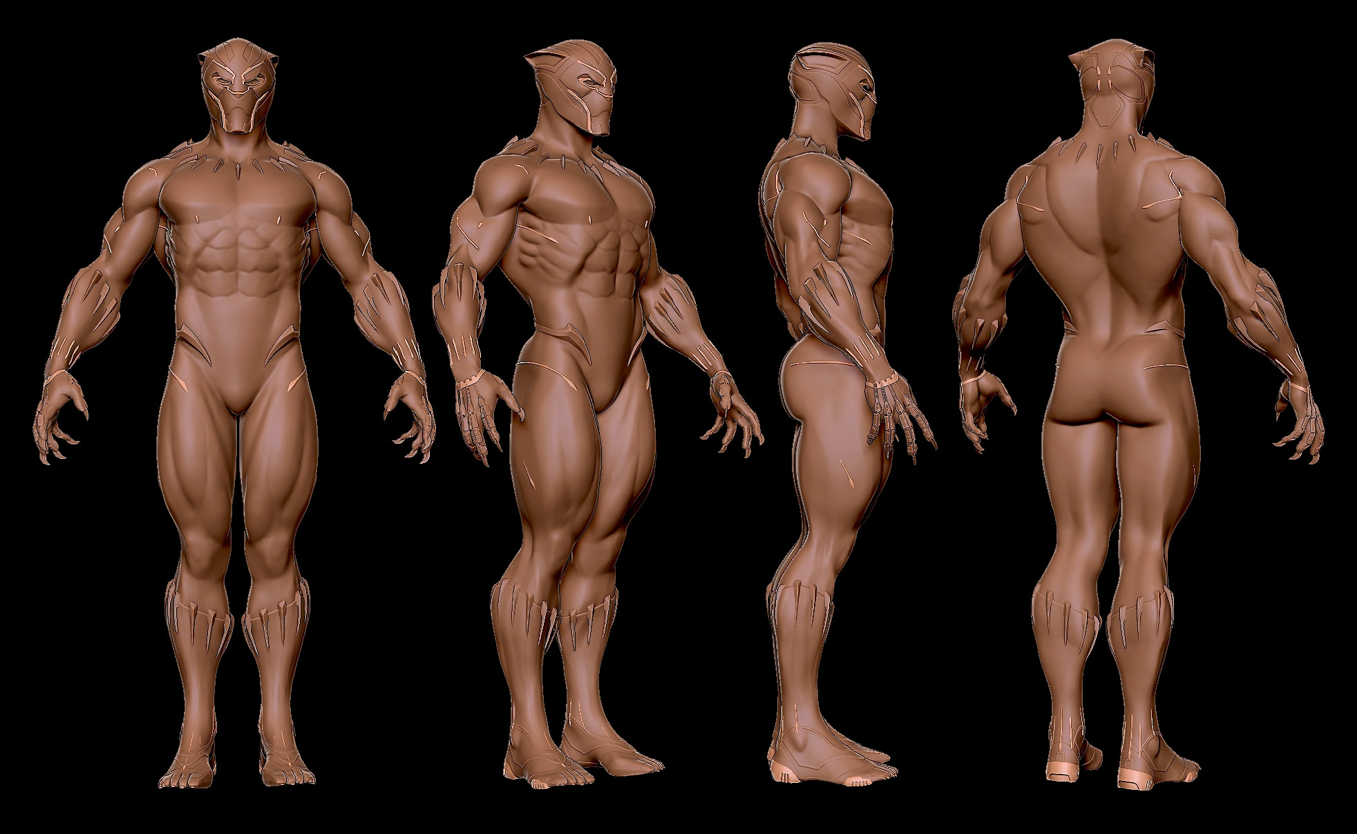3. Finally, satisfied with the hi-rez sculpt I felt comforfortable enough to move on to topo the low-res cage.
