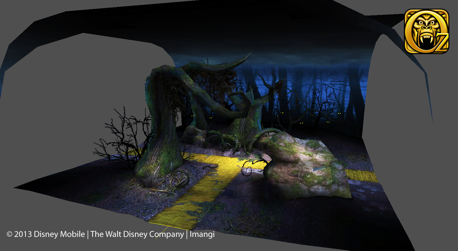 Environment modeled, textured and lighted for Disney's Temple Run Oz. © Disney 2013