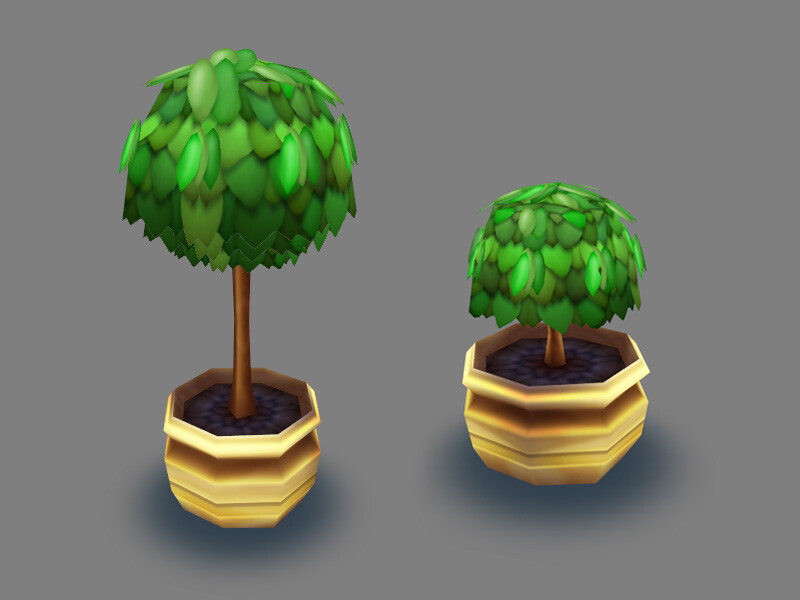 I modeled and textured these environment assets for a Facebook game called Viva! Mall by Konami. © 2010-2011 Konami