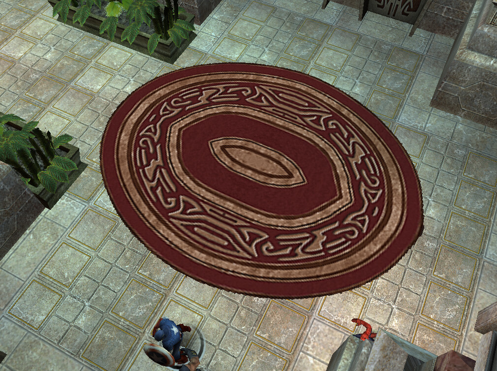 I textured this rug asset for Marvel Ultimate Alliance 2 for the Nintendo Wii and PS2. © 2009 Marvel / Activision / nSpace