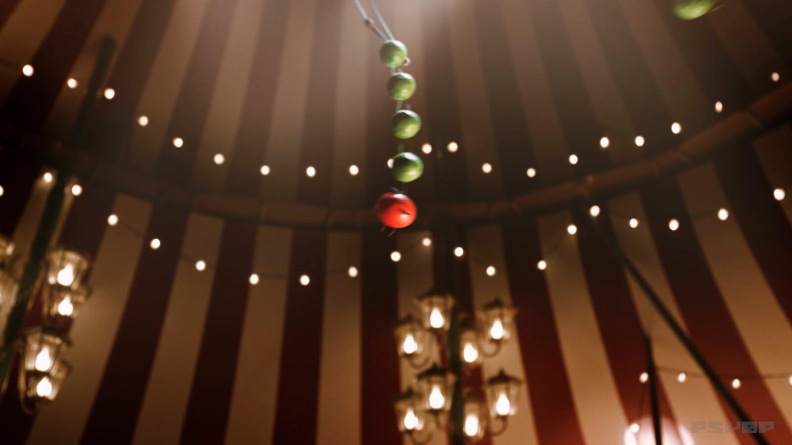 Responsible for Peas + Swings Surfacing and Lighting