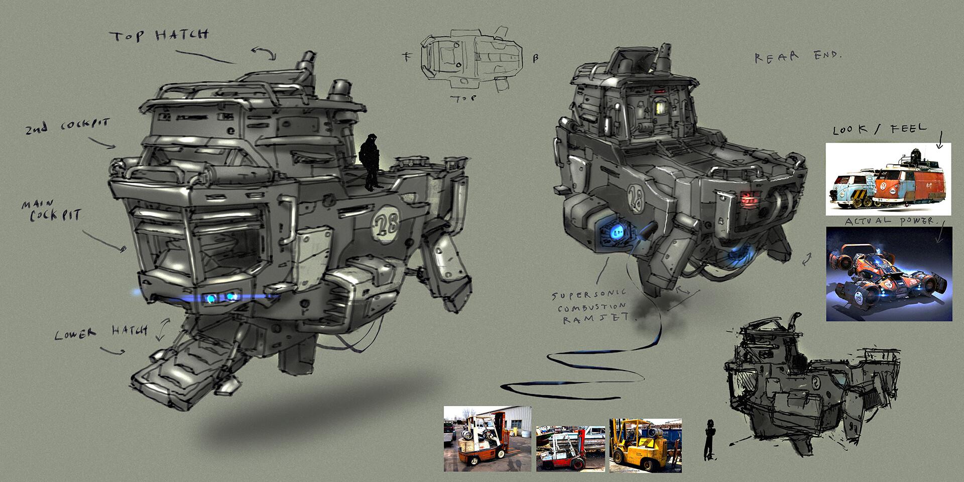 Lander Exterior concept by Soosa Kim