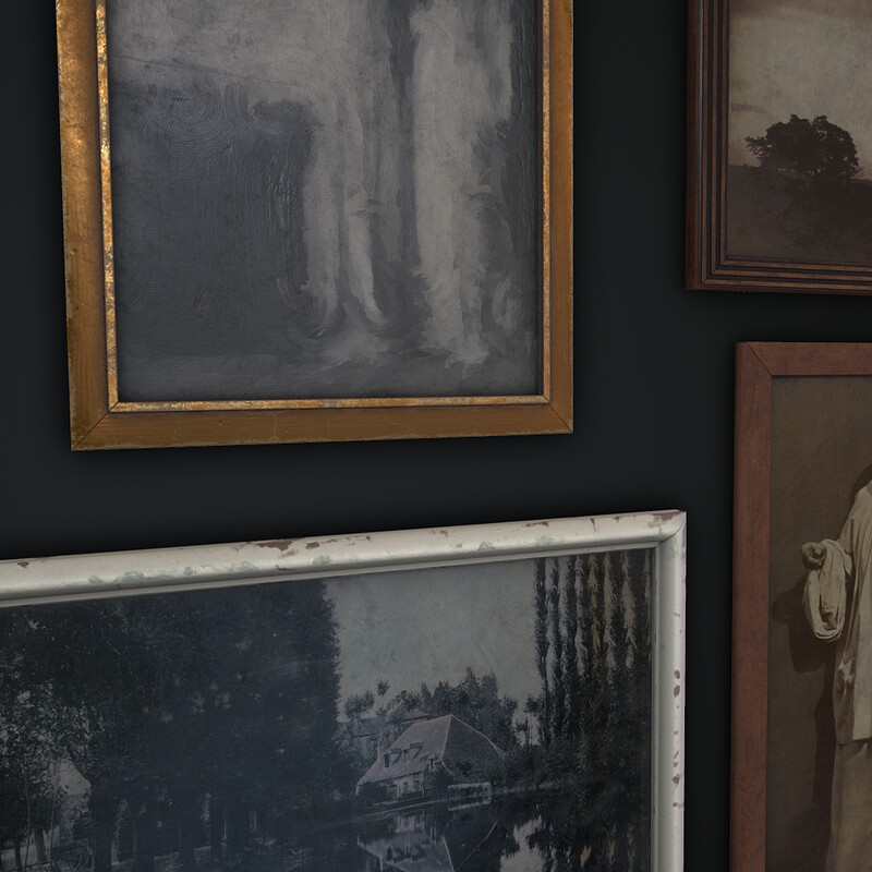 Old Picture Frames  (Part of Horror Living Room Asset Pack - WIP)