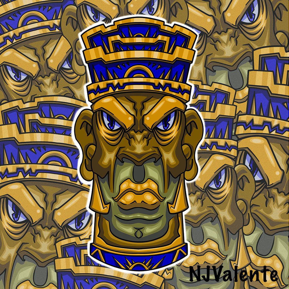 Tiki Don vector design for merchandise development.