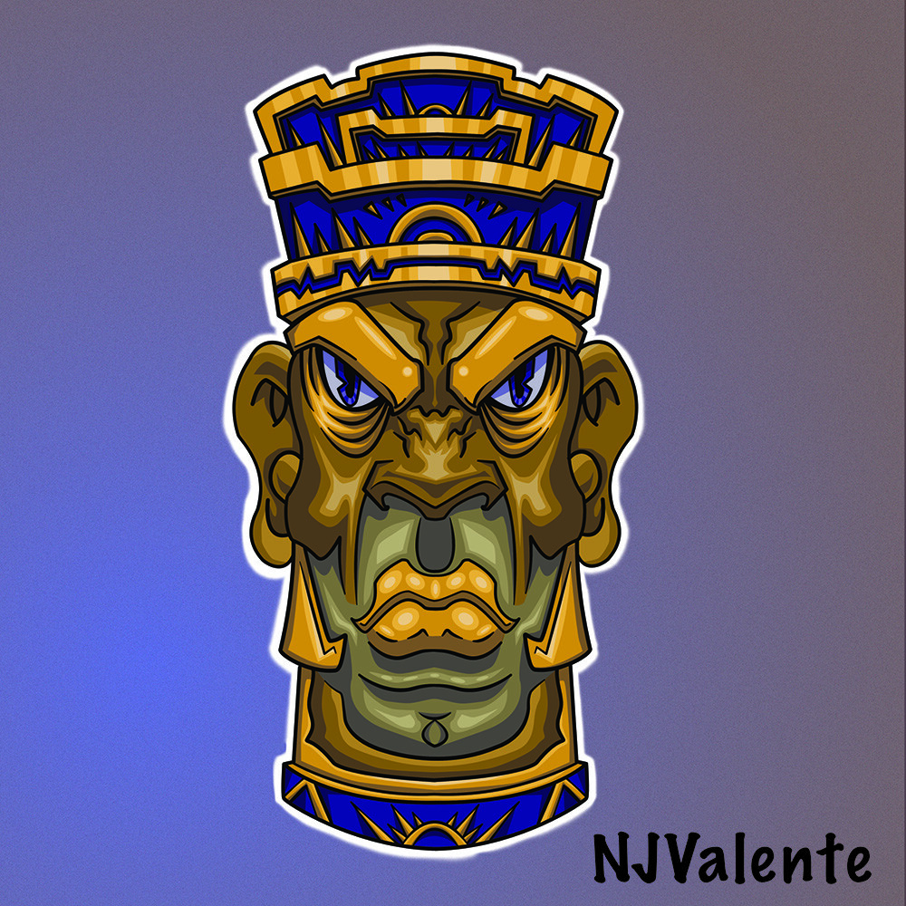 Tiki Don sticker mock up.