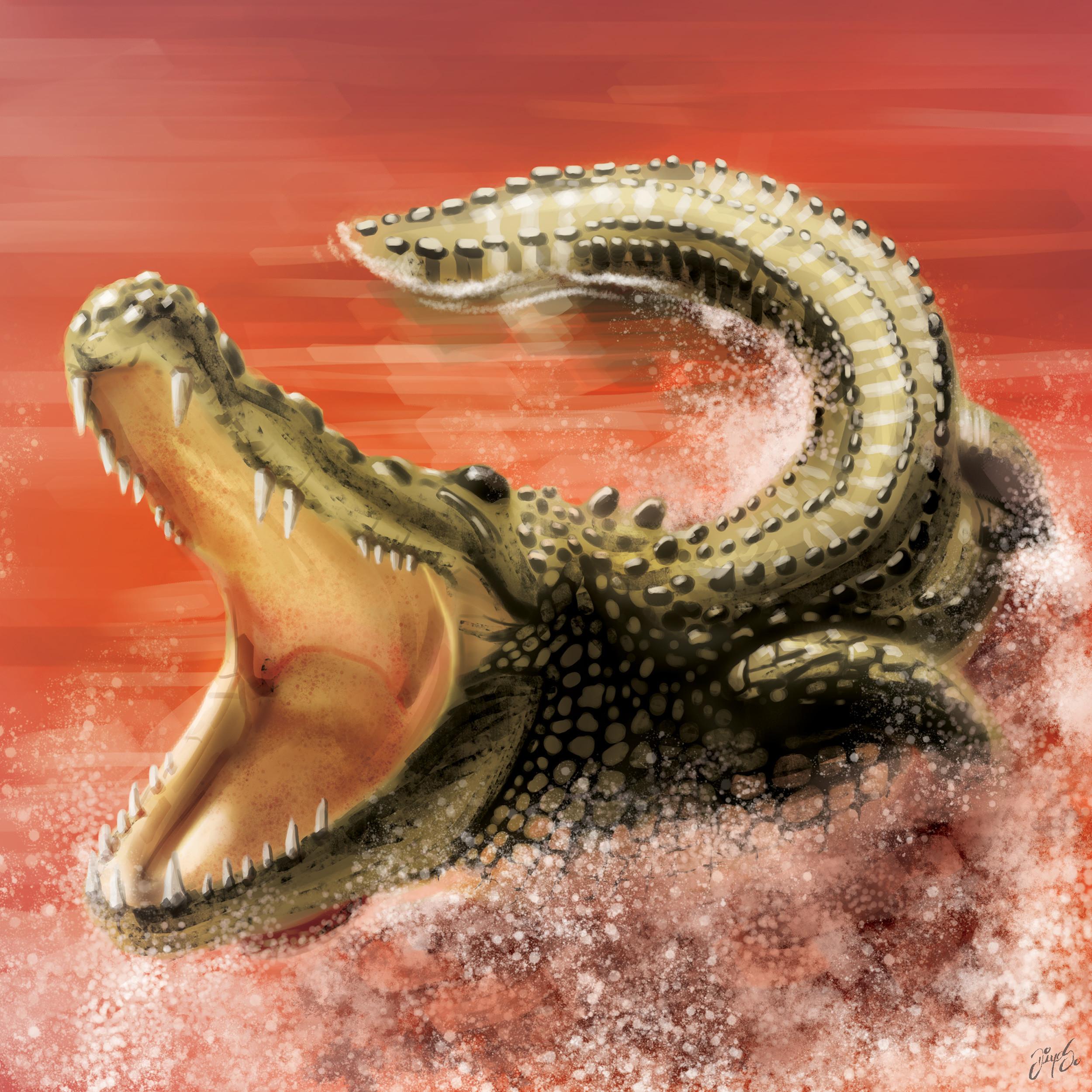 Tile illustration - Crocodile