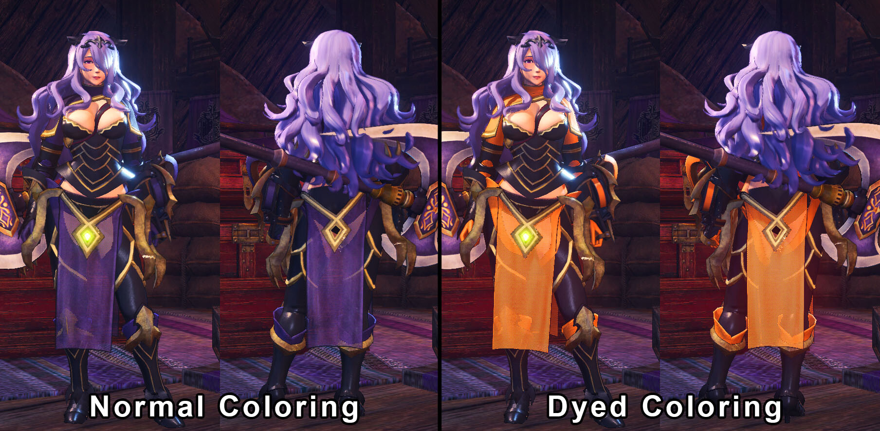 Showing off dye capability for further customization.